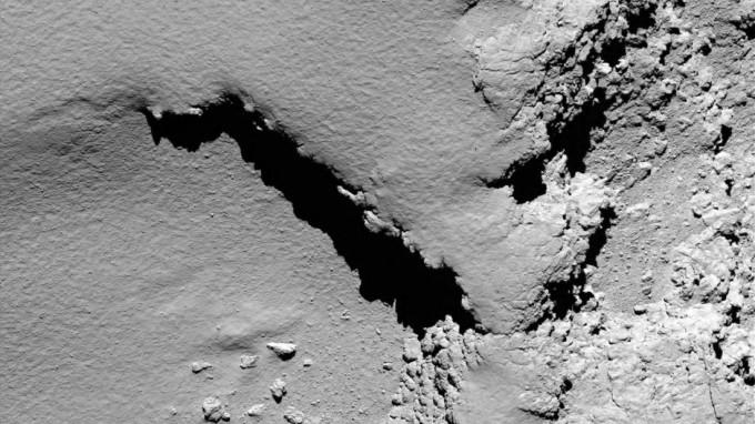 Eines der letzten Bilder der Mission: Der Komet
