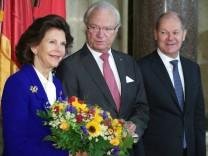Schwedisches Königspaar in Deutschland - Hamburg