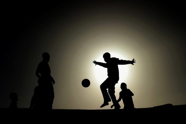 Township Football near Cape Town-2010 FIFA World Cup