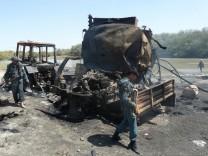 bombardierte Tanklastzüge in Kundus