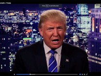 Republican U.S. presidential nominee Trump is seen in a video screengrab as he apologizes for lewd comments he made about women during a statement released via social media