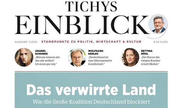 """Erste Ausgabe """"Tichys Einblick"""""""