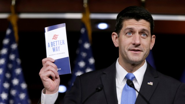 U.S. Speaker of the House Ryan holds a news conference on Capitol Hill in Washington