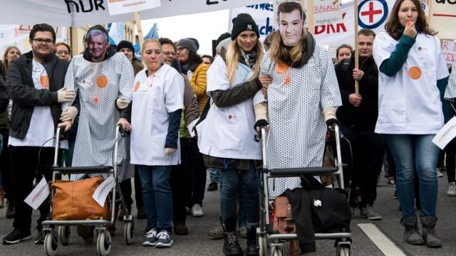 Demonstration von Pflegekräften