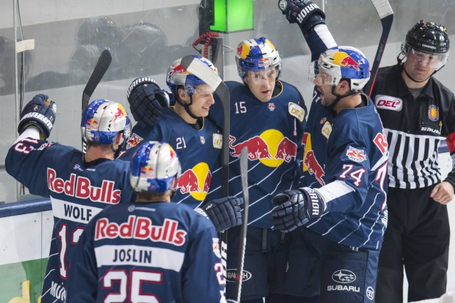 GER DEL EHC Red Bull Muenchen vs Thomas Sabo Ice Tigers Nürnberg 07 10 2016 Olympia Eishalle Mu