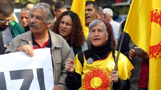 Proteste von Lehrern in Ankara (Foto: AFP)