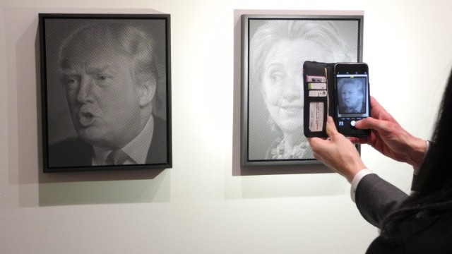 Kunstausstellung ´Why I Want to Fuck Donald Trump""