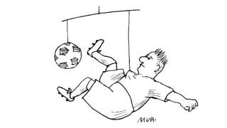 Fußball Hängende Spitze
