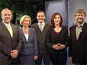 Hans-Peter Goetz, Johanna Wanka, Matthias Platzeck, Kerstin Kaiser, Axel Vogel, dpa