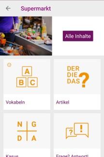 App zum Deutsch lernen, Ansichten