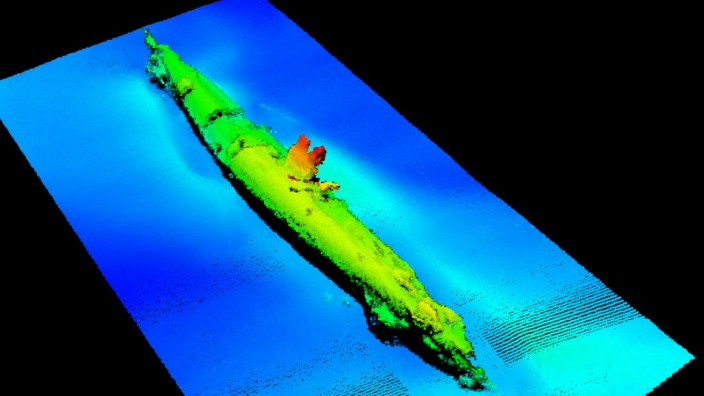 Sonaraufnahme eines gesunkenen U-Boots