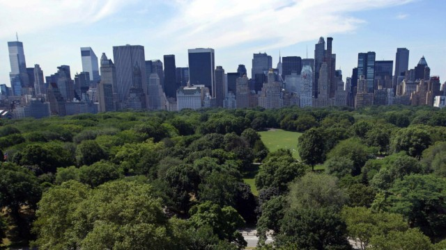 File photo of a view of the New York skyline with buildings along Central Park South