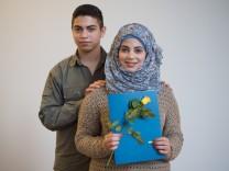 Flüchtlinge lernen an Bauhaus-Uni Deutsch