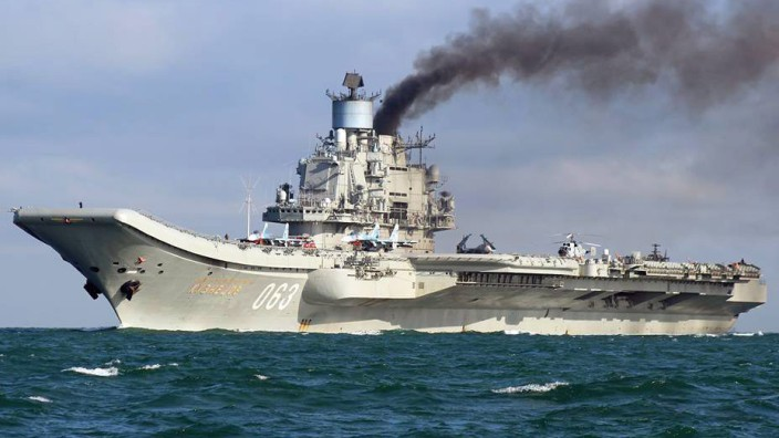 Russian Task Force Carrier Group in English Channel