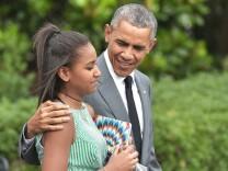 Barack Obama Sasha Malia Snapchat