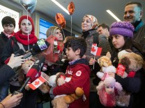 Familie Kurdi bei der Ankunft in Vancouver Ende vergangenen Jahres.