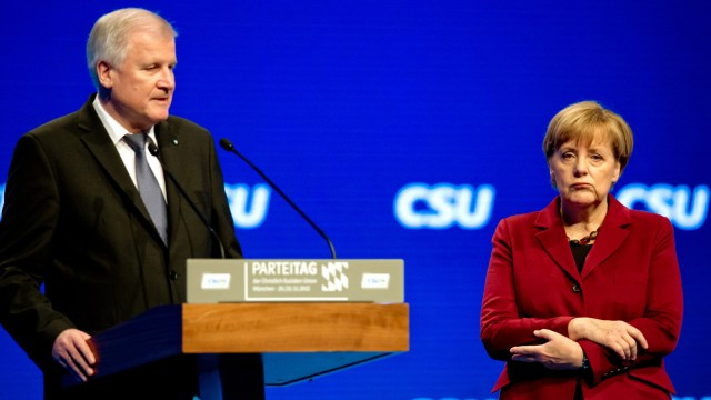 CSU-Parteitag - Angela Merkel