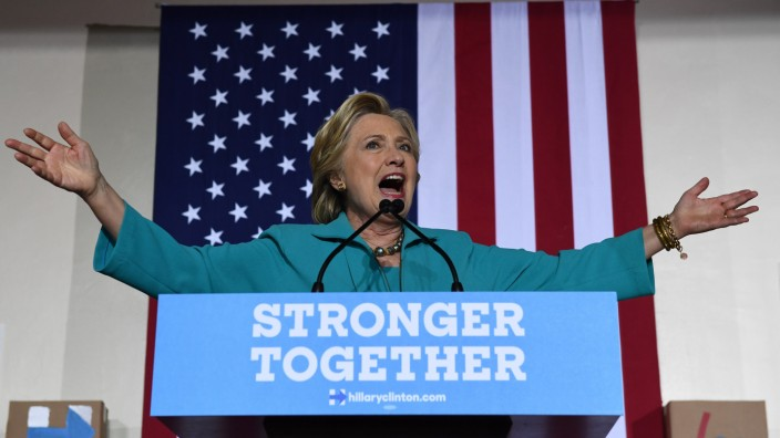 US-Wahl: Hillary Clinton während eines Auftritts in Florida
