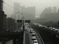 Beijing Hit By Dust Storm