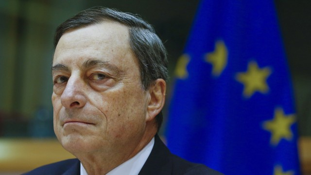 European Central Bank President Draghi testifies before the European Parliament's Economic and Monetary Affairs Committee in Brussels