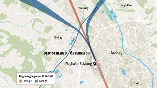 ipad Karte Bayern Freilassing Flugschneisen