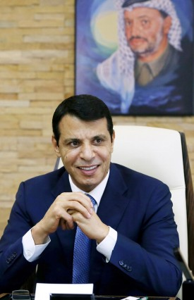 Mohammed Dahlan, a former Fatah security chief, looks on in his office in Abu Dhabi
