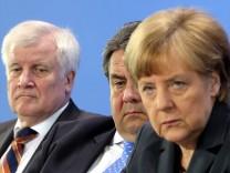 Treffen Merkel, Gabriel und Seehofer