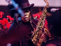 Konzert von Matana Roberts in Martin Gropiuas Bau Berlin Jazzfest 2016 Matana Roberts