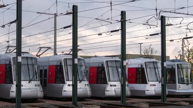 Rheinbahn-Streik in Düsseldorf