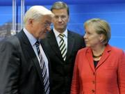 Merkel, Steinmeier, Westerwelle, dpa, elefantenrunde, Bundestagswahl 2009