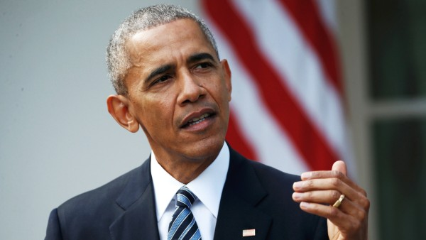 U.S.  President Obama delivers statement on U.S. presidential election results in Washington