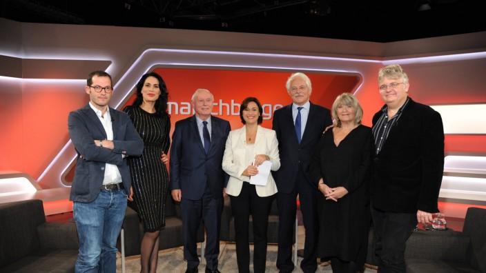 Die Gäste der ARD Talkshow Maischberger am 09 11 2016 in Köln mit dem Thema Der Trump Schock Wie ve