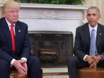 Donald Trump und Barack Obama