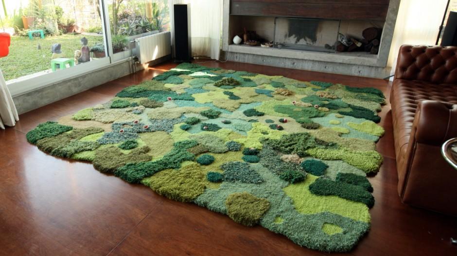 Teppich Von Alexandra Kehayoglou Wald Im Wohnzimmer