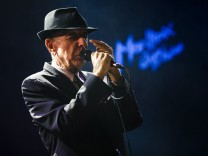 Canadian singer-songwriter Cohen performs during the first night of the 47th Montreux Jazz Festival