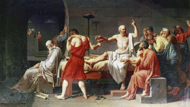 The Death of Socrates 1787 Jacques Louis David 1748 1825 French historical painter Oil on canvas