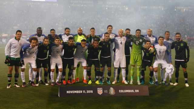 USA v Mexico soccer match