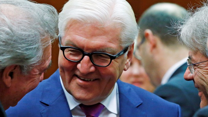 German Foreign Minister Steinmeier attends a European Union foreign ministers meeting in Brussels