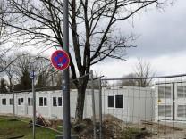 Baustelle für Flüchtlingsunterkunft in München, 2016