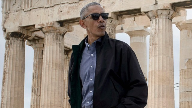 Demokratie Barack Obama in Athen