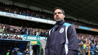 David Wagner manager of Huddersfield Town during the Championship match at the John Smith s Stadium; David Wagner