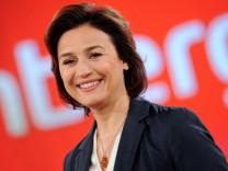 Sandra Maischberger in ihrer Sendung 'Maischberger'