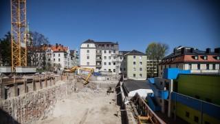 Baustelle für Clearinghaus in München, 2015