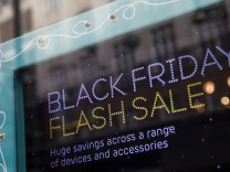 Shops In Oxford Street Prepare For Black Friday Shopping Event