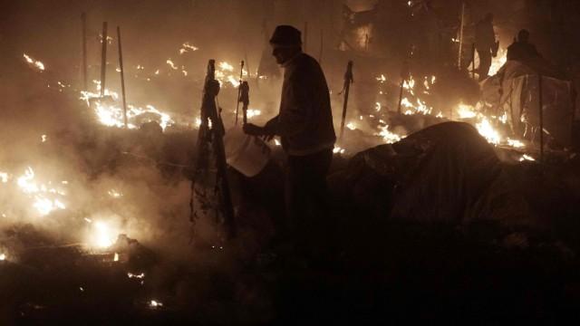 Feuer auf Lesbos