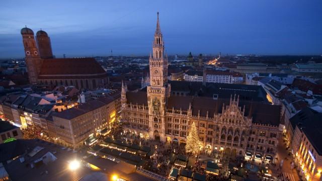 Marienplatz Weihnachtsmarkt.Weihnachten Christkindlmarkt Auf Dem Marienplatz München