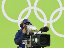 Rio 2016 - TV-Kameramann beim Bogenschießen
