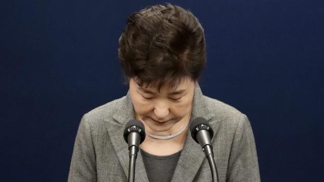 South Korean President Park Geun-hye address to the Nation