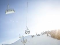 Austria Salzburg State Region Hochkoenig in winter Ski Amade ski lift PUBLICATIONxINxGERxSUIxAUT