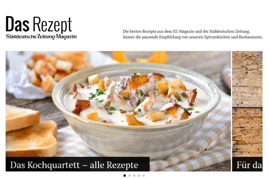 Rezepte Magazin kochportal das rezept schöner kochen mit der sz stil